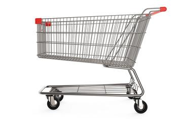 Einkaufswagen auf weißen Hintergrund 3D rendering