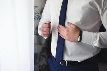 wedding details - elegant groom dressed wedding tuxedo costume i