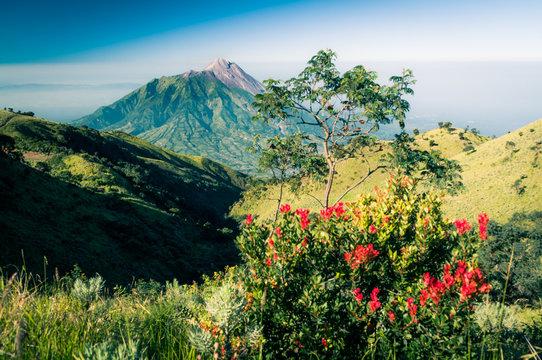 Photo of dormant stratovolcano