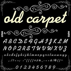 Script Font Typeface old carpet-vintage script font Vector typeface for labels and any type designs