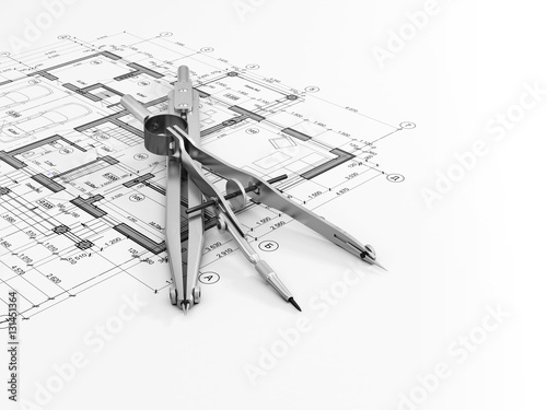 Engineering or architectural concept photo libre de for Architectural engineering concepts