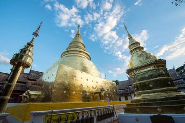 the beautiful landscape of Wat Phra Singh, Chiangmai, Thailand