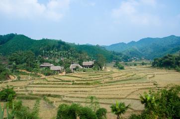 Village de la Province de Yên Bái, Nord Vietnam