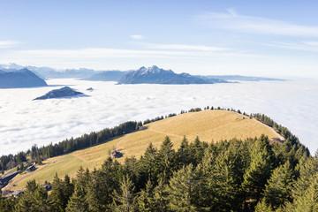 Blick von der Rigi in den Schweizer Alpen