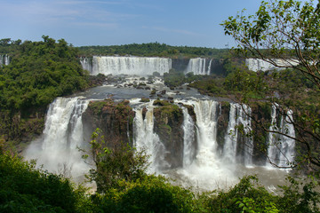great Iguazu Falls. Natural Wonder of the World