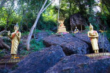 Bouddhas sur le Mont Phousi - Luang Prabang - Laos