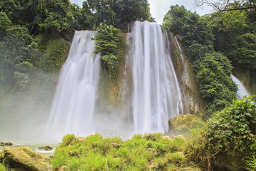 Cikaso Waterfall at Tropical Forest, West Java, Indonesia.