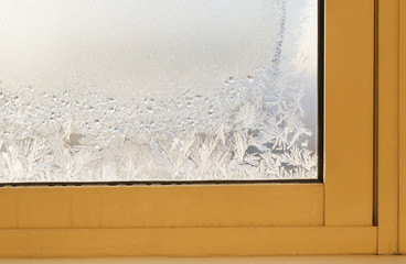 Frozen window glass