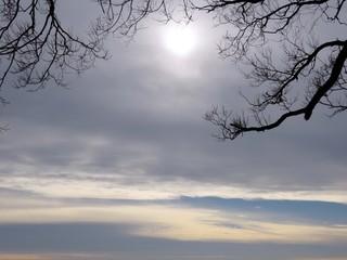 Toronto Lake winter skies 2016