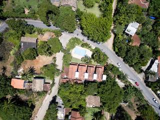 Top View of Street in Ilhabela, Sao Paulo, Brazil