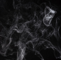 Smoke on a black background. Screen blend mode
