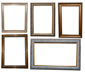 set of beautiful frames for paintings