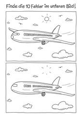 Fehlerbild Flugzeug