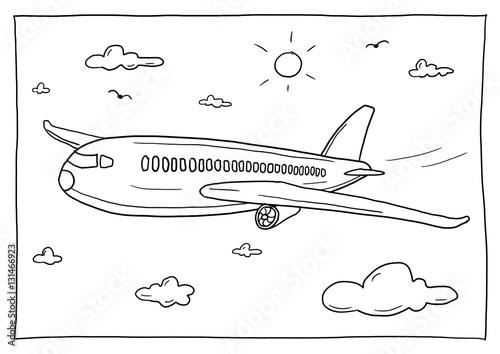 Ausmalbild Flugzeug Stockfotos Und Lizenzfreie Bilder Auf Fotolia