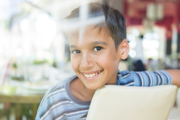 Kids in restaurant