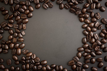 roasted coffee beans for background