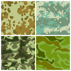set of camouflage coloring