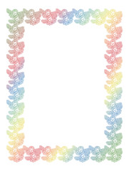 Gradient frame with angel in vintage style. Custom element for design artworks. Raster clip art.