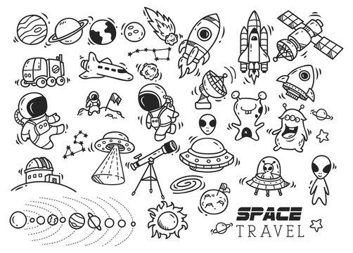 space themed doodle
