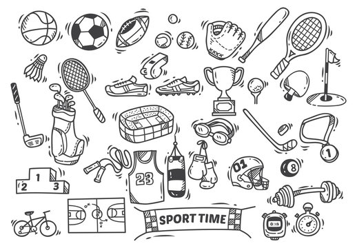 sport themed doodle