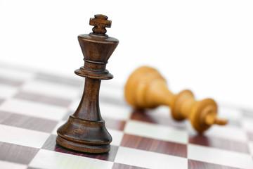 black chess king check white on chessboard