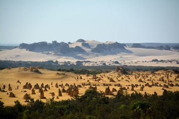 The Pinnacles with huge sand dune