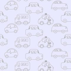 transport kids pattern. vector illustration baby background for boys. Vector of Transportation blue car pattern illustration