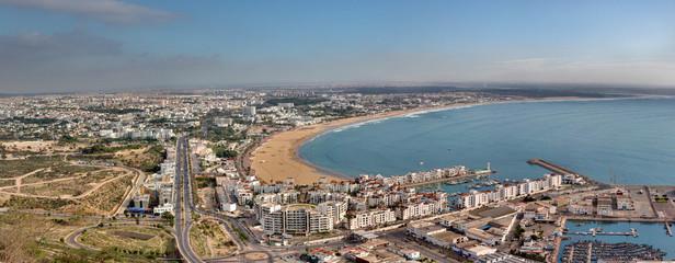 Vue panoramique sur la ville d'Agadir depuis la Kasbah