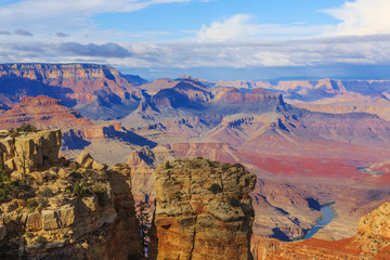 Awesome scenic view of breathtaking landscape in Grand Canyon Na