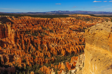 Incredible view of breathtaking hoodoos in Bryce Canyon National