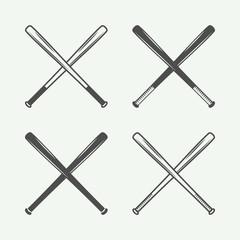 Set of vintage baseball logos, emblems, badges