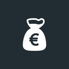 Money bag icon illustration isolated vector sign symbol