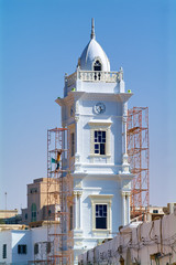 TRIPOLI,LIBYA/AUGUST 04,2009: Reconstruction of the Clock Tower in the old Medina