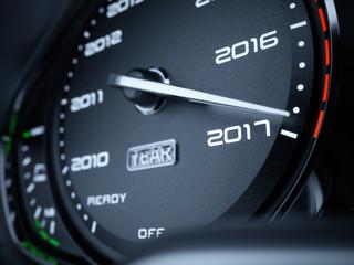 2017 year car speedometer