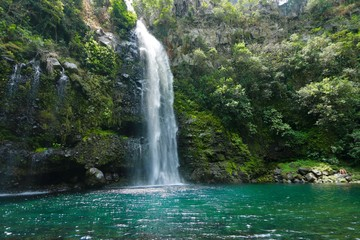 WATERFALL OF the VEIL OF THE BRIDE , REUNION ISLAND, FRANCE