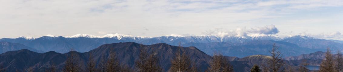 富士山4合目からの風景(日本アルプス山脈)
