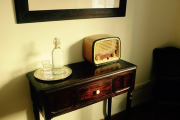 1920s Bedroom with Old Radio