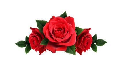 Red rose flowers arrangement