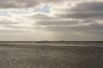 Strandszenen an der Nordsee in Cuxhaven