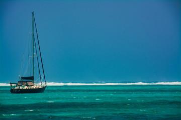 Inside the reef in Belize