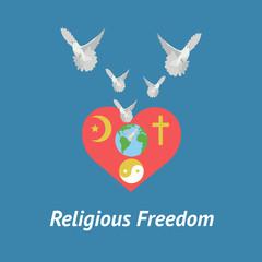 Illustration of religious freedom day