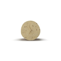 Wine Cork on white. 3D illustration