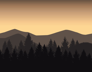 Image background of mountain landscape. Chocolate colors.