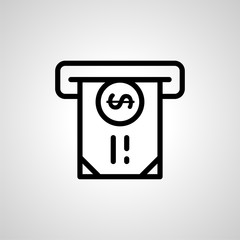 atm icon. isolated vector sign symbol