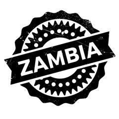 Zambia stamp rubber grunge