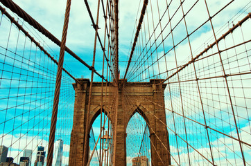 Brooklyn Bridge in New York, USA