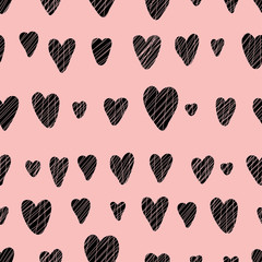Hearts. Seamless pattern can be used for wallpaper, pattern fills, web page background, surface textures.
