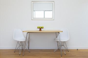 Chair and Mirror interior design idea.