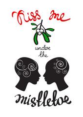 mistletoe two girls silhouettes