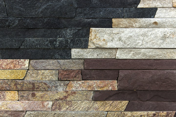 Samples of decorative facing stone